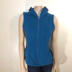 Kuhl Kozet Full Zip Vest Blue Black Wool Blend